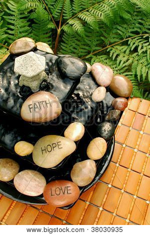 Faith Hope Love Zen Inspired Fountain