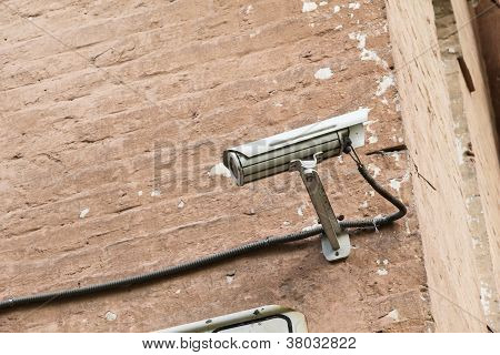Security Camera Mounter On Wall