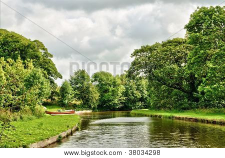 Tranquil view of the Lancaster Canal, England