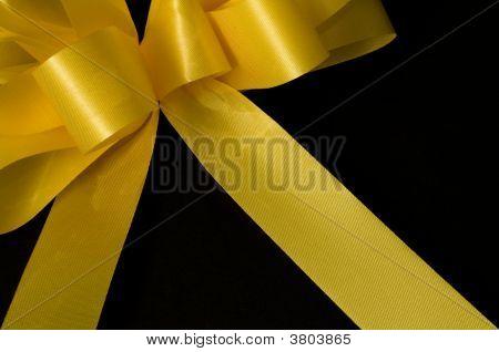 Yellow Ribbon On Black