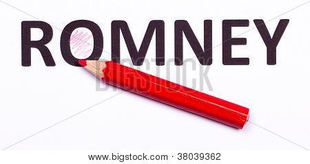 Red Pencil For Voting The Next President