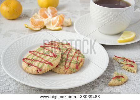Christmas Cookies And Tea