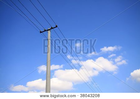 Blue Sky Telegraph Pole