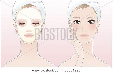 Beautiful Spa Woman With A Beauty Mask
