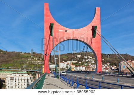 Princes Of Spain Bridge In Bilbao