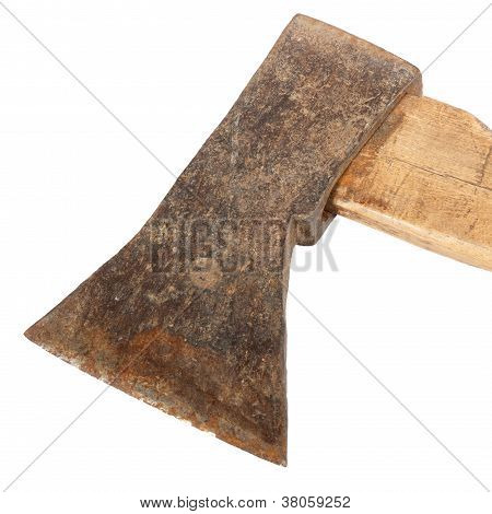 Axe On A White Background