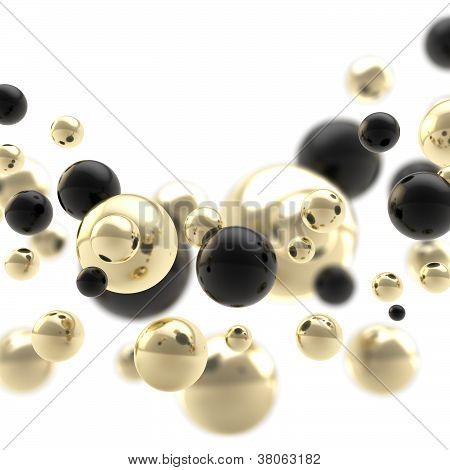 Abstract Background Composition Made Of Spheres