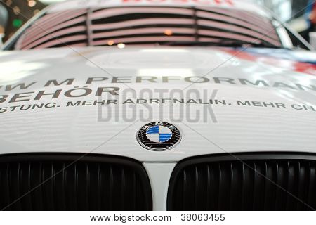 BMW logo on sport car