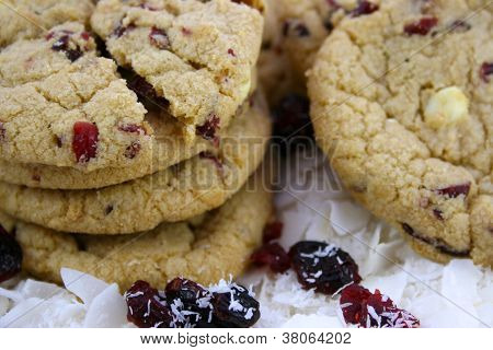 Close Up Of Cranberry Cookies
