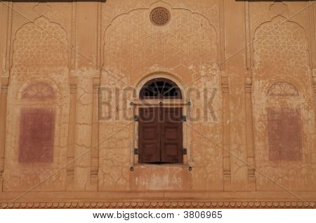 Facade Of Old Indian Palace