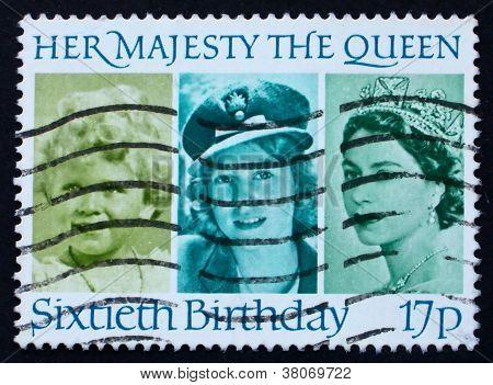 Postagem carimbo Gb 1986 sua Majestade a Rainha Elizabeth Ii