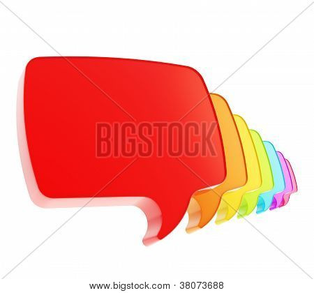Text Speech Bubbles In A Queue Line Isolated