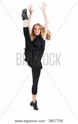 Healthy Woman Doing Stretching Exercising