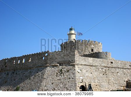 Lighthouse In Rhodes, Greece