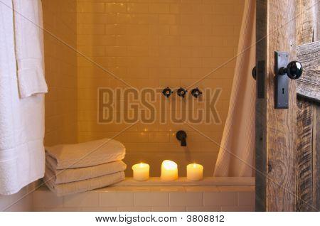 Rustic Bathroom Scene
