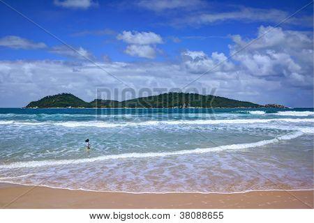 Campeche beach and Campeche Island