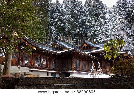 Sakurayama Hachimangu Shrine, Hida, Takayama, Japan in Winter