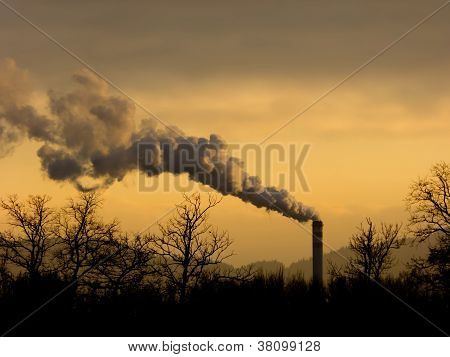 Smoke and chimney, industry