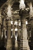 picture of jain  - Chaumukha Mandir the main jain temple at Ranakpur India - JPG