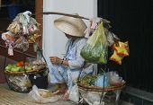 Saigon street fruit seller