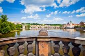 image of legion  - view of the Charles Bridge in Prague from the bridge of Legions - JPG