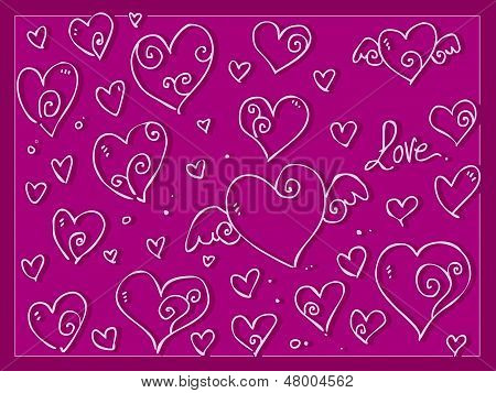 Cute Love Valentine Day's Hearts
