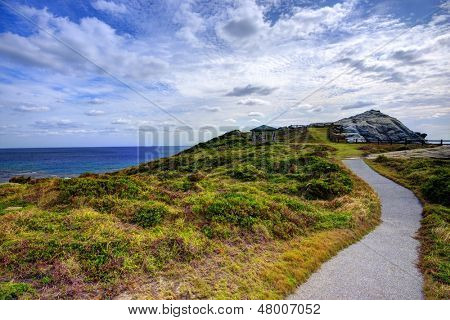 Landscape on the island of Tokashiki, Okinawa, Japan.