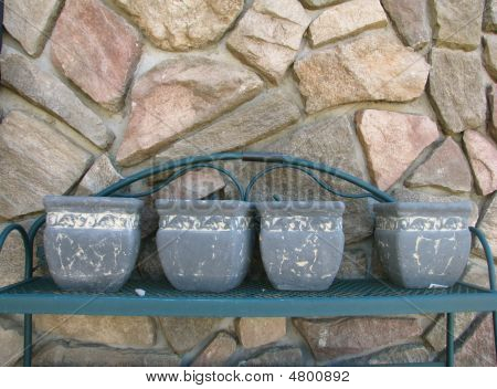 Ceramic Planters Await The Plants
