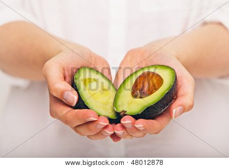 Tropical Avocado Sliced In Half