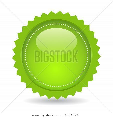 Green vector price star