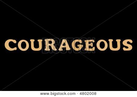 Wooden Word Courageous