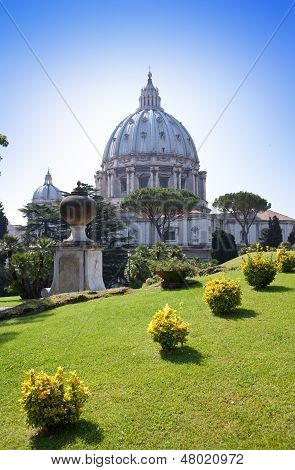 Italy. Rome. Vatican. St Peter's Basilica.