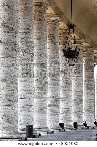 Colonnade on Sr.Peter square. Rome. Italy