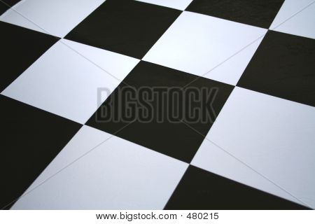 Black & White Checkered Floor