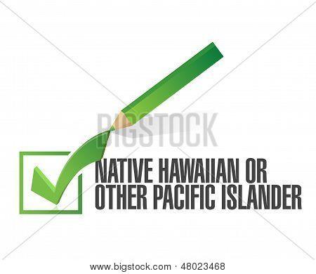 Race Selection. Pick Native Hawaiian. Illustration
