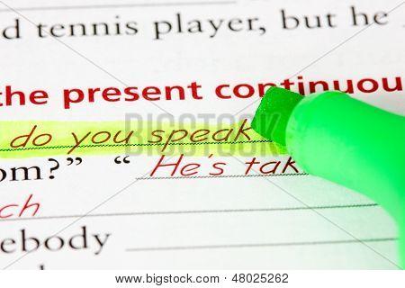 Learning Language - English