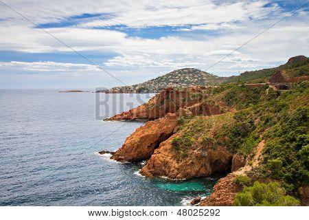 Red Rocks On The Corniche Esterel
