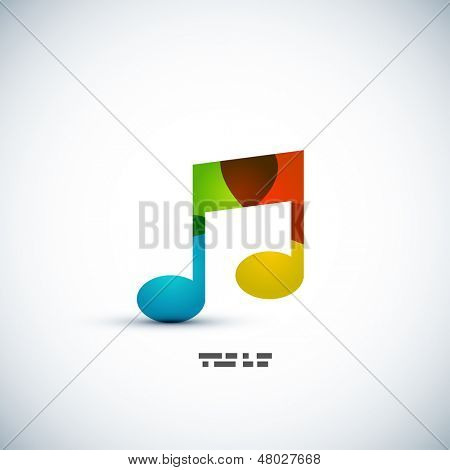 Music note colorful vector concept