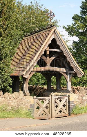 Lychgate at Madresfield Church, England