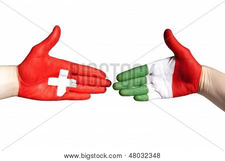 Italian And Swiss Handshake
