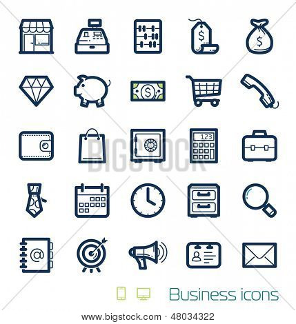 Business & Finances icons set Perfect lines