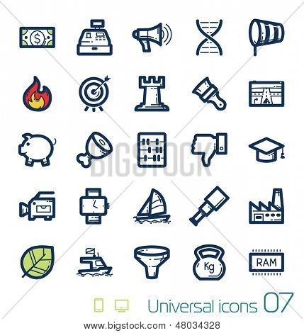 Universal icons set Perfect lines 07