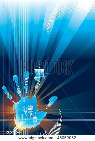 Digital security concept. ( for VECTOR format, search Image ID: 17612965 )