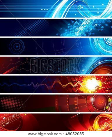 Set of abstract technology web banner. ( for VECTOR format, search Image ID: 82520872 )