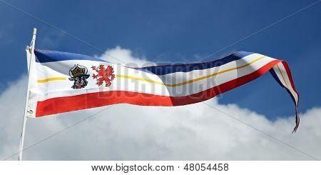 Flag of the county Mecklenburg-Vorpommern, Germany