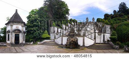 Panorama of Bom Jesus do Monte in Braga, Portugal