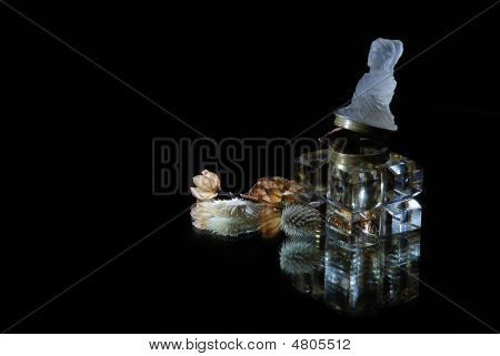 Inkstand With Dead Flower