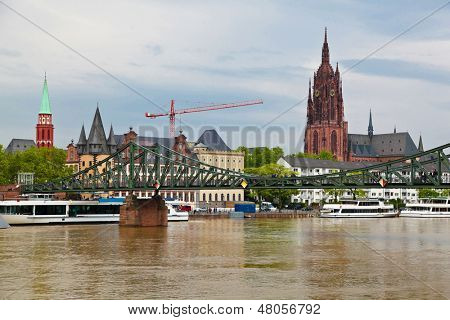 Panorama of Old Frankfurt, Germany