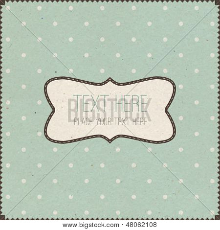 Stylish Retro Vintage Invitation Card