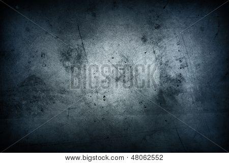 Blaue Grunge texturierte Wand closeup